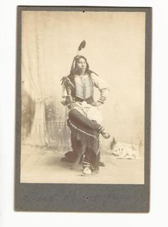 CABINET-CARD-NATIVE-AMERICAN-INDIAN-DEW-DROPS