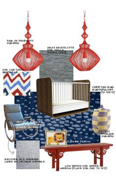 Red, white & blue baby boy room