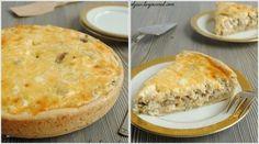 Фото к рецепту: Лоранский пирог с курицей и грибами