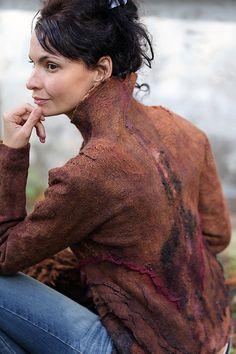 Modèle pour seemless feutré veste de couleur adobe « Kievskie Kanikuly » avec des instructions