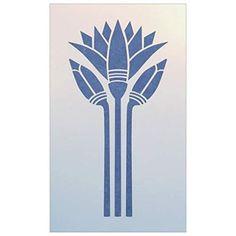 Egyptian Lotus Stencil - The Artful Stencil Lotus Flower Art, Lotus Art, Stencil Patterns, Stencil Designs, Art Deco Tattoo, Egypt Design, Minoan Art, Geometric Coloring Pages, Lotus Tattoo Design