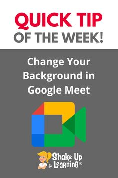 You can now customize the background in Google Meet using pre-made backgrounds, video animations, or upload your own! Watch the quick video tutorial below to learn how to change your background in Google Meet. Free Teaching Resources, Teacher Resources, Technology Integration, Mobile Learning, Google Classroom, Educational Technology, Shake, Distance, Backgrounds