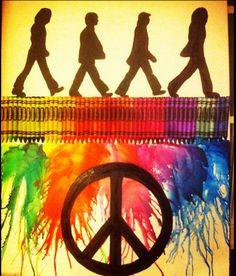 beatles crayon art