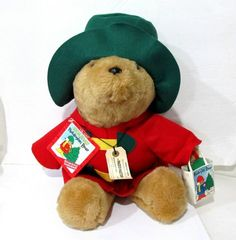 Paddington Bear 16 Christmas Holiday Collectible Plush With Book 1996 Sears by 1997 Sears * Click image to review more details.