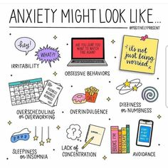 We're 2 weeks into Mental Health Awareness month! ⠀ ⠀ Anxiety can present itself in lots of ways. In fact, I've seen my own anxiety show up… Health Anxiety, Anxiety Tips, Anxiety Help, Social Anxiety, Stress And Anxiety, Symptoms Of Anxiety, Anxiety And Depression, Anxiety Facts, Mental Health