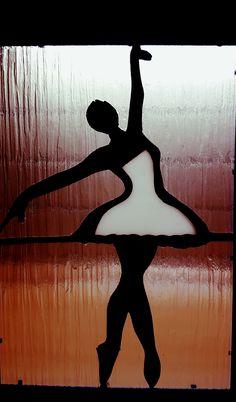 Handmade Ballerina Stained Glass Panel by ViktoriaSuthGlassArt Glass Panels, Ballerina, Stained Glass, Symbols, Handmade, Art, Craft Art, Ballet Flat, Icons