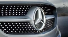 The New diamond-block grille of the Mercedes CLA 4-door Coupe. http://www.tafelmotors.com/new/2014-cla-class  #CLA #Mercedes #Coupe #Louisville