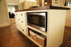 Image result for kitchen island with microwave shelf