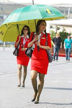 Red hot sexy stewardess in Air Asia ~ World stewardess Crews Hot Air Hostess, Air Hostess Uniform, Weather Girl Lucy, Beauty Full Girl, Flight Attendant, Beautiful Legs, Asia, Female, Sexy