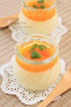 オレンジ・チーズプリン