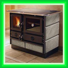 Wood stove.  Küchenherd Speckstein 12kW Küchenofen Kaminofen Holzofen Speckstein-Ofen