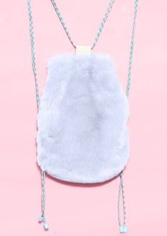 BLUE FUR BACKPACK - product images