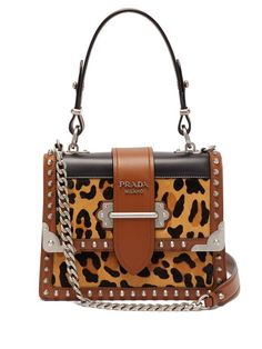 021ca380100 Prada Cahier leopard-print and leather shoulder bag Leopard Print Bag,  Leather Shoulder Bag