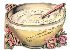 Vintage Birthday CardA Happy Birthday by starmango