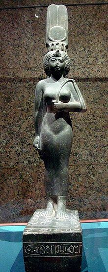 Statue of the Divine Adorator Ankhenesneferibre, now in the Nubian Museum, Aswan. 25th dynasty, Kushite Ethiopian rule, Egypt.
