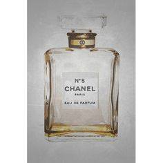 Found it at Wayfair - 'Chanel No. 5 in Gold Giclee' by Kelissa Semple Graphic Art  on Wrapped Canvas