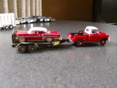 59 GMC Haulin' a Racing Champs 58 Impala