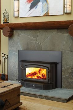 This medium sized wood fireplace insert combines classic wood stove styling with modern wood burning technology to produce efficient long term burns. Fireplace Pictures, Fake Fireplace, Fireplace Design, Fireplace Ideas, Wood Burning Stove Insert, Wood Burning Fireplace Inserts, Wood Insert, Traditional Fireplace, Buy Wood