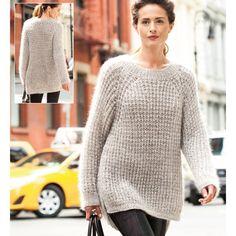 SHEER STRIPE RAGLAN PULLOVER  Vogue Knitting Winter 2014/15 #10  Design by Mari Lynn Patrick