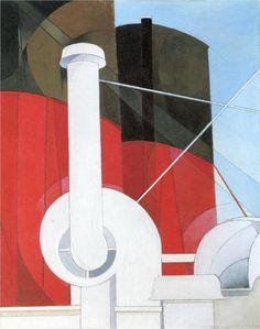 Charles Demuth (American 1883–1935) [Precisionism] Paauebot 'Paris, 1922.