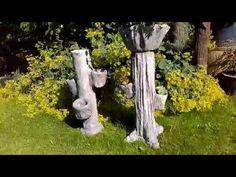 How to Make Concrete Garden Spheres : Removing Garden Spheres from Molds - YouTu. Concrete Cloth, Concrete Statues, Concrete Crafts, Cement Art, Concrete Art, Concrete Planters, Concrete Garden Ornaments, Cement Flower Pots, Garden Spheres