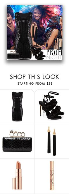 """""""Promnight"""" by marionmeyer ❤ liked on Polyvore featuring Marco de Vincenzo, Alexander McQueen, Yves Saint Laurent, Estée Lauder, Charlotte Tilbury and PROMNIGHT"""