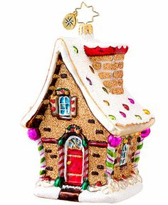 Christopher Radko Christmas Ornament, Macy's Exclusive 2013 Gingerbread House
