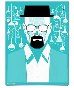 White Designer Ty Mattson has created a poster series showing the transformation of Walter White from Breaking Bad. Affiche Breaking Bad, Breaking Bad Poster, Creative Poster Design, Creative Posters, Poster Designs, Creative Lettering, Design Posters, Walter White, Saul Bass