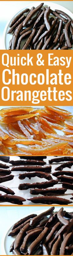Candied orange peel strips dipped in chocolate. These super easy orangettes are chewy, smooth, and dark, with subtle notes of citrusy bitterness.