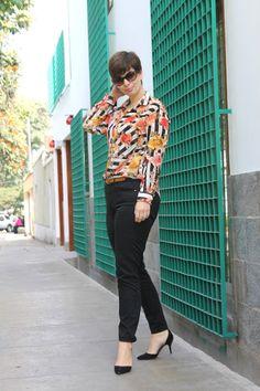Divina Ejecutiva: Mis looks - De rayas y flores