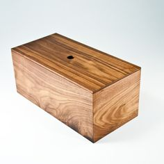 OnOurTable made-in-Canada walnut bread box.