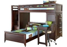 Kendrick's new bunkbeds...except his has a full size bed on the bottom.