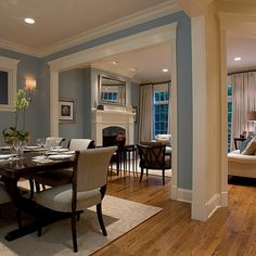 Oak Trim Grey Wall Design Ideas, Pictures, Remodel and Decor
