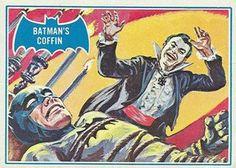 Topps Batman card, art by Norman Saunders: Batman's Coffin (The Joker)