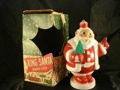 King Santa Bank-Lite Harett-Gilmar Electric Light 1950's