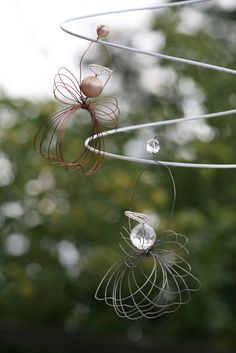 wire angel ornaments!