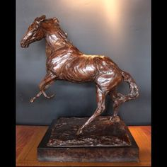 Prancing Stallion by Charlie Langton, Century. A large bronze study of a stallion in motion with rich brown patination. Contemporary Sculpture, 21st Century, Lion Sculpture, Bronze, Statue, Art, Art Background, Kunst, Sculpture