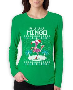 Fa La La Flamingo Ugly Christmas Sweater Funny Women Long Sleeve T-Shirt Gift | Clothing, Shoes & Accessories, Women's Clothing, T-Shirts | eBay!