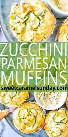 Zucchini Parmesan Muffins are hot fresh and taste delicious The zucchini is seasoned well to ensure a delicious taste serve with mustard yoghurt sweetcaramelsunday Side Dish Recipes, Easy Recipes, Amazing Recipes, Delicious Recipes, Sweets Recipes, Muffin Recipes, Popular Recipes, Healthy Recipes, Drink Recipes
