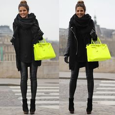 neon yellow mixed with black