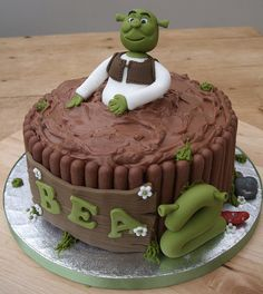 Pin By First Stage On Shrek The Musical Shrek Cake Cake