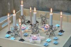 Borddekking - nyttår Liv, Candles, Candy, Candle Sticks, Candle