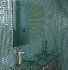 Custom Design Mirror Tile Art & Glass On Mesh - Persian Custom Mosaic Tile & Mirror Tiles Art