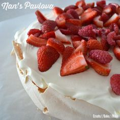 There is nothing like a classic dessert and as my Nan is a bit of a Pav Queen, so I decided to convert her Pavlova recipe and make it in my Thermomix. Thermomix Desserts, Dessert Recipes, Choc Ripple Cake, Nan, Australian Food, Classic Desserts, Christmas Desserts, Christmas Cooking, Queen