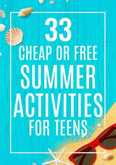 Do you need cheap or free summer activities for teens? Hopefully this list of 33 summer activities f Group Activities For Teens, Outdoor Activities For Adults, Summer Activities For Kids, Summer Kids, Community Activities, Summer Games, Summer Programs For Kids, Summer Schedule, Teen Fun