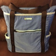 """Life is Good Workout bag Lightly used Life is Good workout bag. Two side pockets securely hold water bottles. Size approximately 22""""x18"""".  Handles plenty long enough to carry on your shoulder.  Can easily hold tennis shoes and workout clothes. Life is Good Bags Totes"""