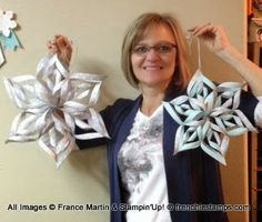 Big 3-D Paper Snowflake at Frenchie
