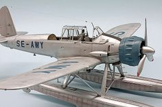 Arado Ar 196 A-3 Plastic Art, Plastic Models, Fighter Aircraft, Fighter Jets, Sea Planes, Float Plane, Modeling Techniques, Flying Boat, Ares