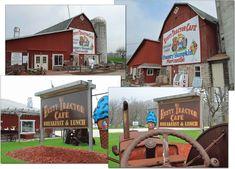 The Rusty Tractor Cafe in Door County WI - http://doorcountydining.com/rustytractor/