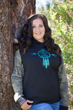 Girls with guns dream catcher hoodie is a great hoodie for the cold season as well as hunting season. Camo Gear, Hunting Clothes, Lifestyle Clothing, Fashion Outfits, Womens Fashion, Hoodies, Sweatshirts, Shirt Outfit, Dream Catcher
